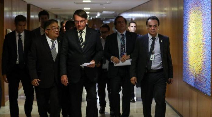 Bolsonaro encabezó este viernes una conferencia de prensa en el Palacio do Planalto.